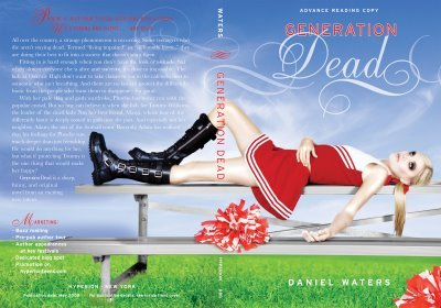 Generation Dead cover (note the use of the entire dust jacket)
