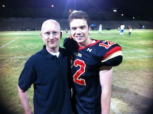 Brent Hartinger with Cameron Deane Stewart (Russel in the movie)