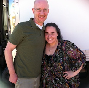 Brent Hartinger with Nikki Blonsky (Terese in the movie). Thanks to Brent for the photo!