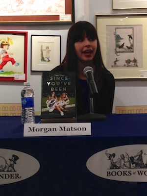 Morgan talking about Since You've Been Gone. (If you see a hardcover in the wild be sure to check out the interior of the dust jacket!)