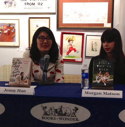 Jenny and Morgan talking about what of themselves they put into their characters. (Jenny likes to bake like Lara Jean and Morgan is a runner like Emily--though only if she signs up for a marathon or the like).
