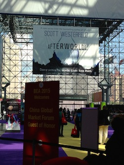 Sign for Afterworlds by Scott Westerfeld