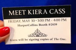 The golden Kiera Cass Ticket