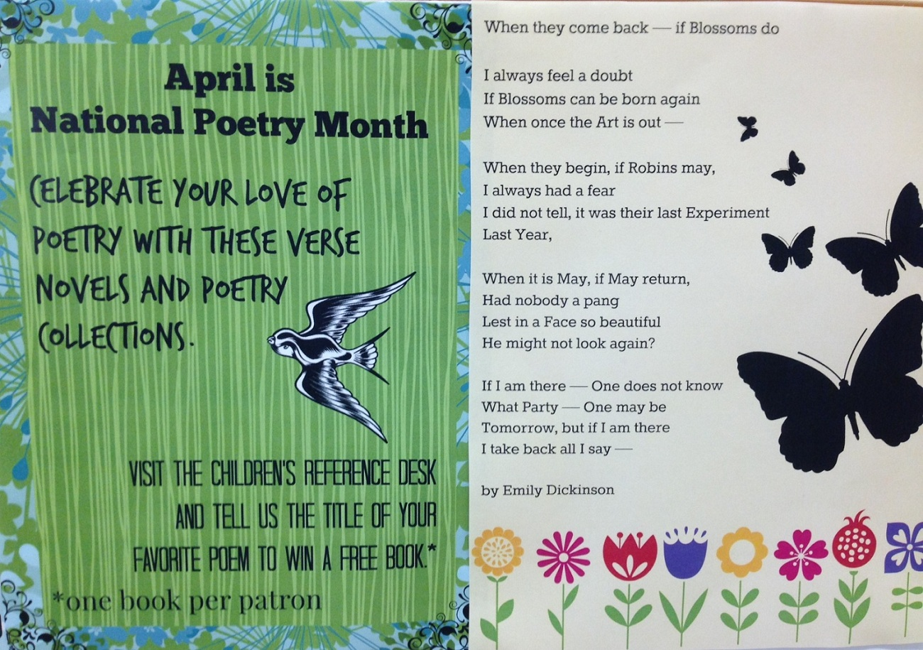 Poetry Month Display Miss Print
