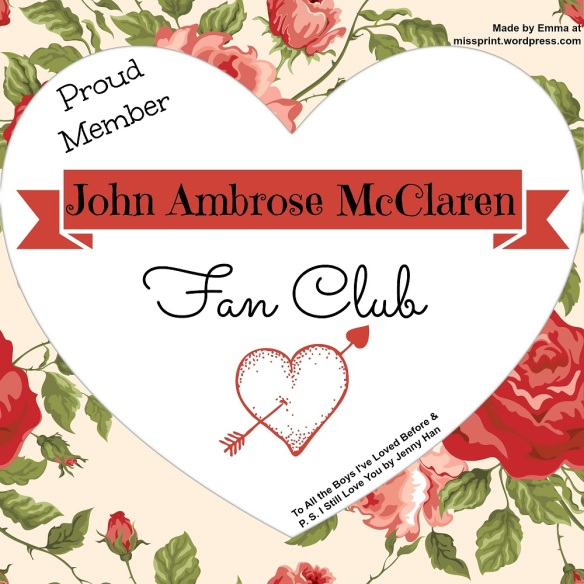John Ambrose McLaren Fan Club badge