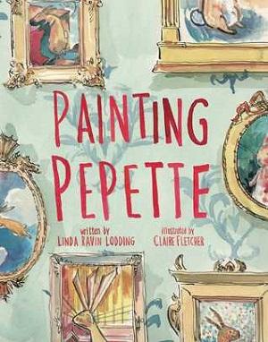 Painting Pepette by Linda Ravin Lodding and Claire Fletcher