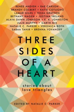 cover art for Three Sides of a Heart: Stories about Love Triangles