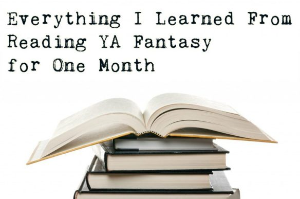 Everything I learned from Reading YA Fantasy for One Month with a stack of books