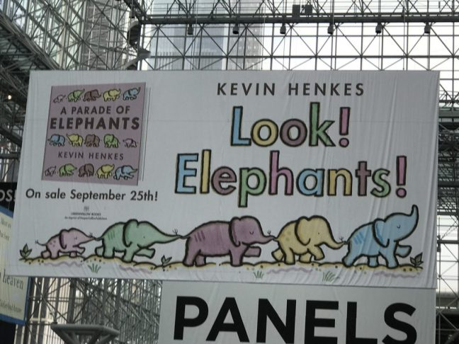 Look elephants! banner at BookExpo 2018