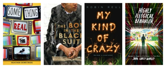 cover art for Something Real, The Boy in the Black Suit, My Kind of Crazy, Highly Illogical Behavior