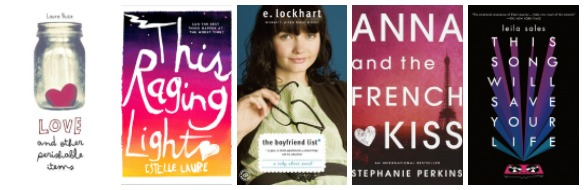 Book covers for books about growing up