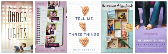 Book covers for books with love triangles