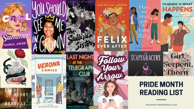 Pride Month Reading List cover collagebanner