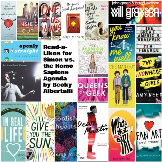 cover image college for Booklist: Read-a-Likes for Simon vs. the Homo Sapiens Agenda by Becky Albertalli