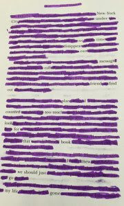 Sample Blackout Poetry 2