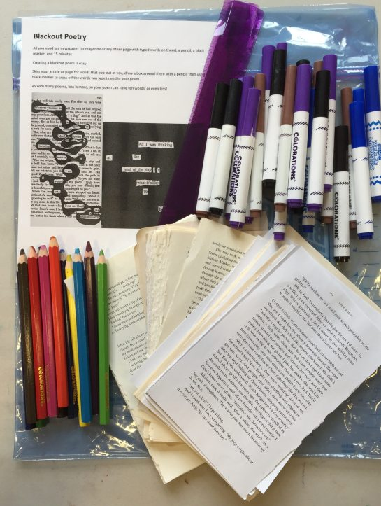 Blackout Poetry Maker Kit Supplies
